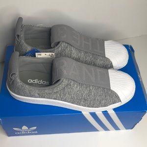 adidas Shoes - Women's Adidas Superstar Grey Slip-ons